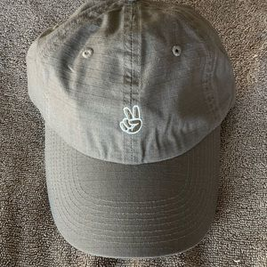 NEFF Peace Sign Curved bill Hat NEW Khaki